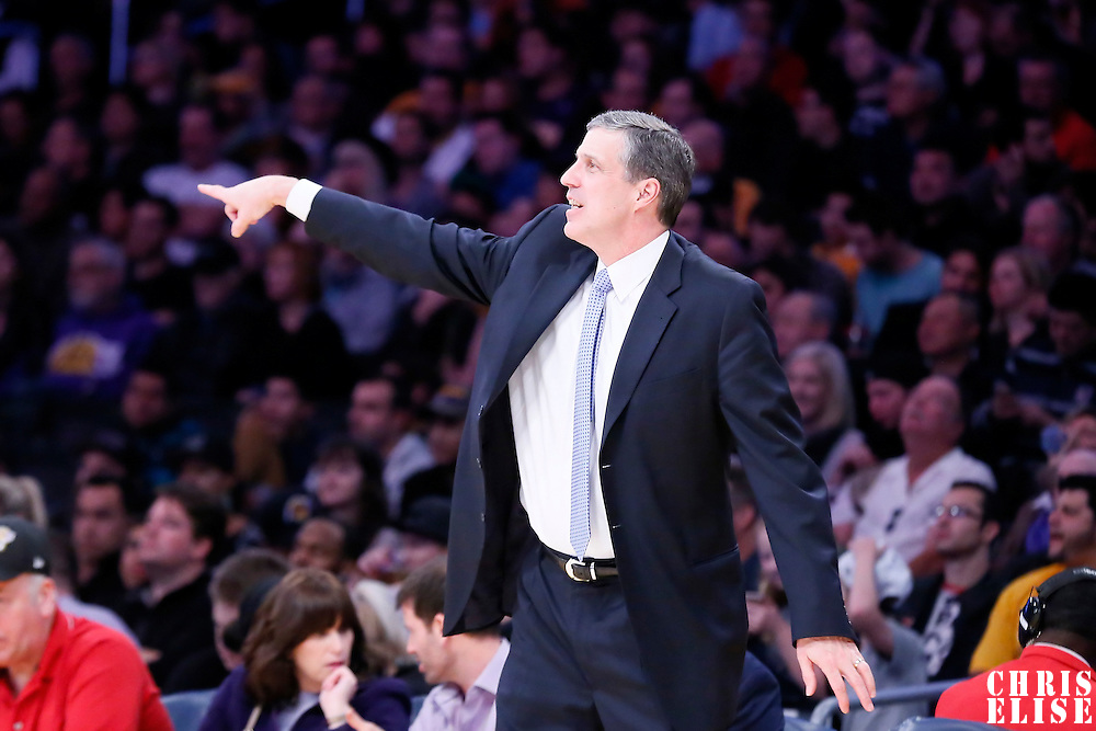 27 January 2015: Washington Wizards head coach Randy Wittman is seen during the Washington Wizards 98-92 victory over the Los Angeles Lakers, at the Staples Center, Los Angeles, California, USA.