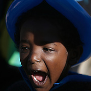 Aaron McCumbee,4, laughs during the Paws for People 5K. (Jason A. Frizzelle)