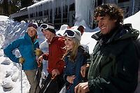 Skiers at Ski Resort