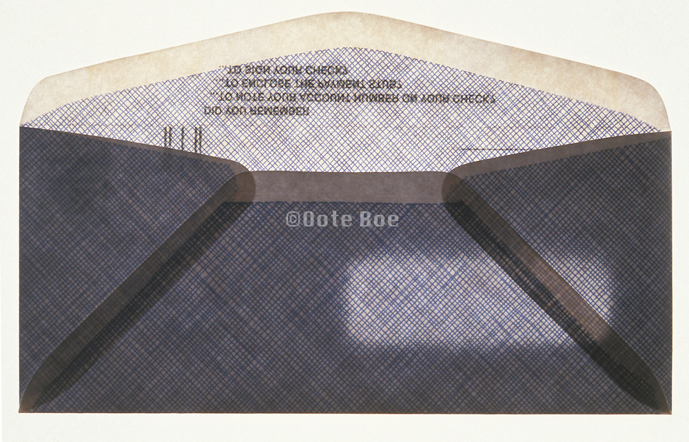 Backside of a payment envelope