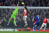Football - 2019 / 2020 Premier League - Arsenal vs. Chelsea<br /> <br /> Bernd Leno of Arsenal punches thin air which gave Jorginho the easiest equalising goal, at The Emirates.<br /> <br /> COLORSPORT/ANDREW COWIE
