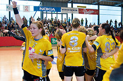 Spela Cerar at the Final handball game of the Slovenian Women handball Championship between RK Krim Mercator and RK Olimpija when Krim Mercator won the Championship and became Slovenian National Champion, on May 23, 2009, Kodeljevo, Ljubljana, Slovenia.  (Photo by Klemen Kek / Sportida)