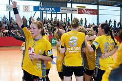 Spela Cerar at the Final handball game of the Slovenian Women handball Championship between RK Krim Mercator and RK Olimpija when Krim Mercator won the Championship and became Slovenian National Champion, on May 23, 2009, Kodeljevo, Ljubljana, Slovenia.  (Photo by Klemen Kek / Sportida)