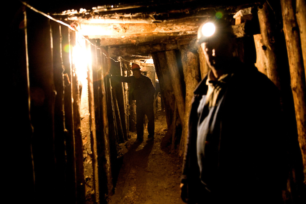 "Workers in a tunnel complex near the town center...Bosnian Pyramids.Visoko, Bosnia and Herzegovina. **The authenticity of the ""Bosnian Pyramids"" has been a point of heated debate in the scientific community**"