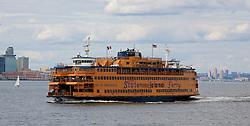 NEW YORK, USA - Tuesday, July 29, 2014: New York City's Staten Island Ferry. (Pic by David Rawcliffe/Propaganda)