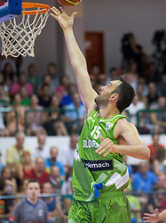 Mirza Begic of Slovenia during friendly match between National teams of Slovenia and Republic of Macedonia for Eurobasket 2013 on July 28, 2013 in Litija, Slovenia. Slovenia defeated Macedonia 63-54. (Photo by Vid Ponikvar / Sportida.com)