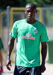 01.07.2015, Weserstadion, Bremen, GER, 1. FBL, SV Werder Bremen, Trainingsauftakt, im Bild Anthony Ujah (SV Werder Bremen #21) beim Laktattest // during a Trainingssession of German Bundesliga Club SV Werder Bremen at the Weserstadion in Bremen, Germany on 2015/07/01. EXPA Pictures © 2015, PhotoCredit: EXPA/ Andreas Gumz<br /> <br /> *****ATTENTION - OUT of GER*****