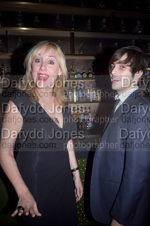 Amy Sacco and Hugo Bellan, Weinstein Bafta after-party in association with Chopard. Bungalow 8. London. 10  February 2008.  *** Local Caption *** -DO NOT ARCHIVE-© Copyright Photograph by Dafydd Jones. 248 Clapham Rd. London SW9 0PZ. Tel 0207 820 0771. www.dafjones.com.