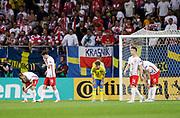 LUBLIN, POLEN 2017-06-19<br /> Jacob Une-Larsson deppar under UEFA U21 matchen mellan Polen och Sverige den 19 juni p&aring; Arena Lublin, Polen.<br /> Foto: Nils Petter Nilsson/Ombrello<br /> Fri anv&auml;ndning f&ouml;r kunder som k&ouml;pt U21-paketet.<br /> Annars Betalbild.<br /> ***BETALBILD***