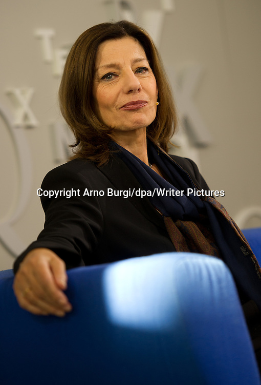 Ursula Krechel at the 64th Frankfurt Book Fair in Frankfurt Main, Germany, October 2012<br /> <br /> Picture by Arno Burgi/dpa/Writer Pictures<br /> <br /> NO FOREIGN SALES IN GERMANY, CHINA, TAIWAN, HONG KONG, AUSTRIA, SWITZERLAND, POLAND, CROATIA AND THE FORMER YUGOSLAVIA