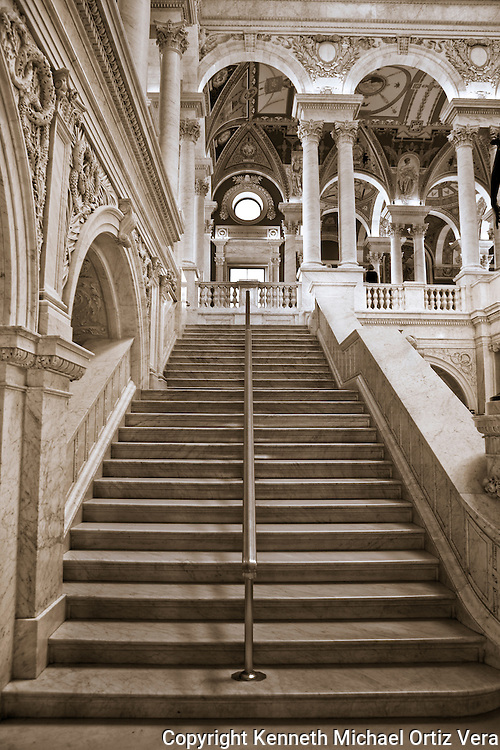 Stairwell at the Library of Congress in Washington D.C.