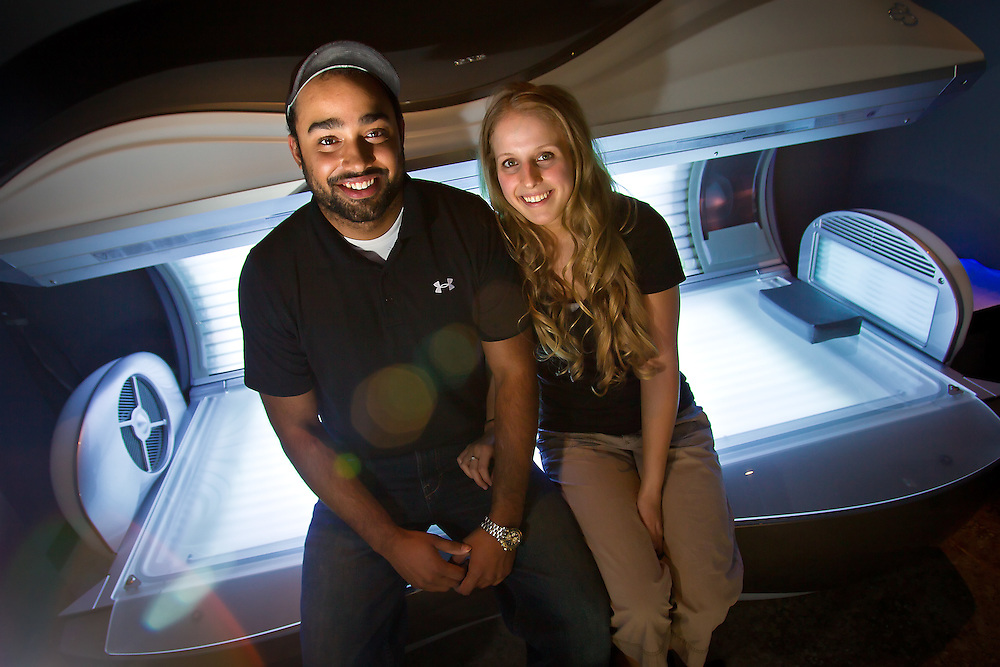Adam Kaplan and Paige Craggett opened Slick Rock Tanning & Spa in Post Falls offering both ultraviolet and spray tanning, aqua thermassage, skin hydration, teeth whitening and a sauna.