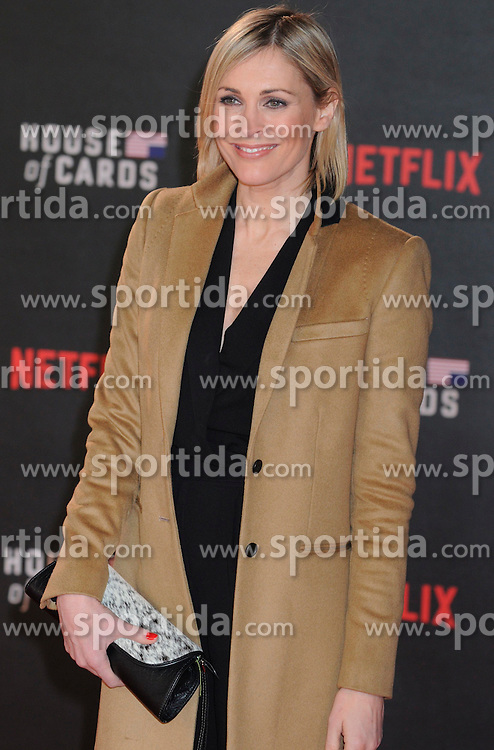 Jenni Falconer attends the World Premiere of 'House of Cards' Season 3 at The Empire Cinema on February 26, 2015 in London, England. EXPA Pictures &copy; 2015, PhotoCredit: EXPA/ Photoshot/ Michael Melia<br /> <br /> *****ATTENTION - for AUT, SLO, CRO, SRB, BIH, MAZ only*****