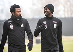 13.01.2020, Waldstadion, Pasching, AUT, 1. FBL, Trainingsauftakt, LASK, im Bild v.l. Samuel Tetteh (LASK Linz), Yusuf Olaitan Otubanjo (LASK) // during a Trainingssession of Austrian tipico Bundesliga Club LASK at the Waldstadion in Pasching, Austria on 2020/01/13. EXPA Pictures © 2020, PhotoCredit: EXPA/ Reinhard Eisenbauer