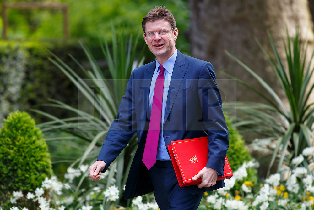 © Licensed to London News Pictures. 12/05/2015. LONDON, UK. Communities and Local Government Secretary Greg Clarke attending to the first Conservative cabinet meeting after the 2015 general election in Downing Street on Tuesday, 12 May 2015. Photo credit: Tolga Akmen/LNP
