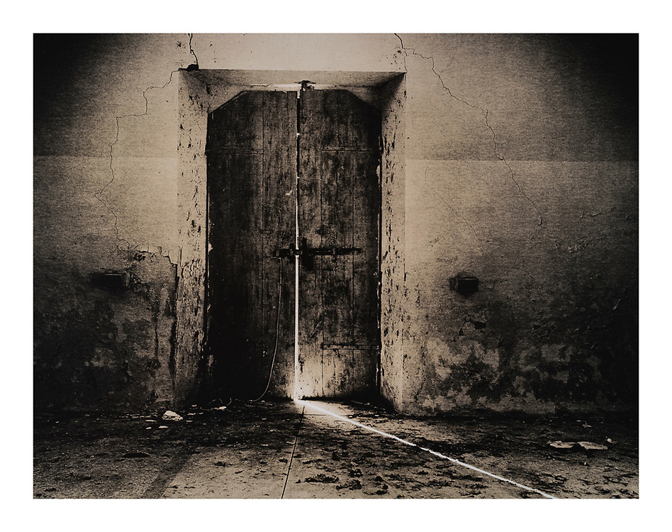"House of Rooms #13 (1997/2007)"" Artist's Proof. Image size: 27cm x 35.5cm, paper size 30cm x 40cm selenium toned silver gelatin lith print. £750* GBP. Each silver gelatin print has been split-selenium toned using archival methods and is stamped, titled, signed on the reverse. Please email me at info@simon-larbalestier.co.uk for availability and shipping info. All prints are shipped from the United Kingdom. *Stated price does not include shipping."