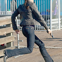 .The cast from NCIS Los Angeles record an episode at the Santa Monica Pier on Tuesday, November 2, 2010.