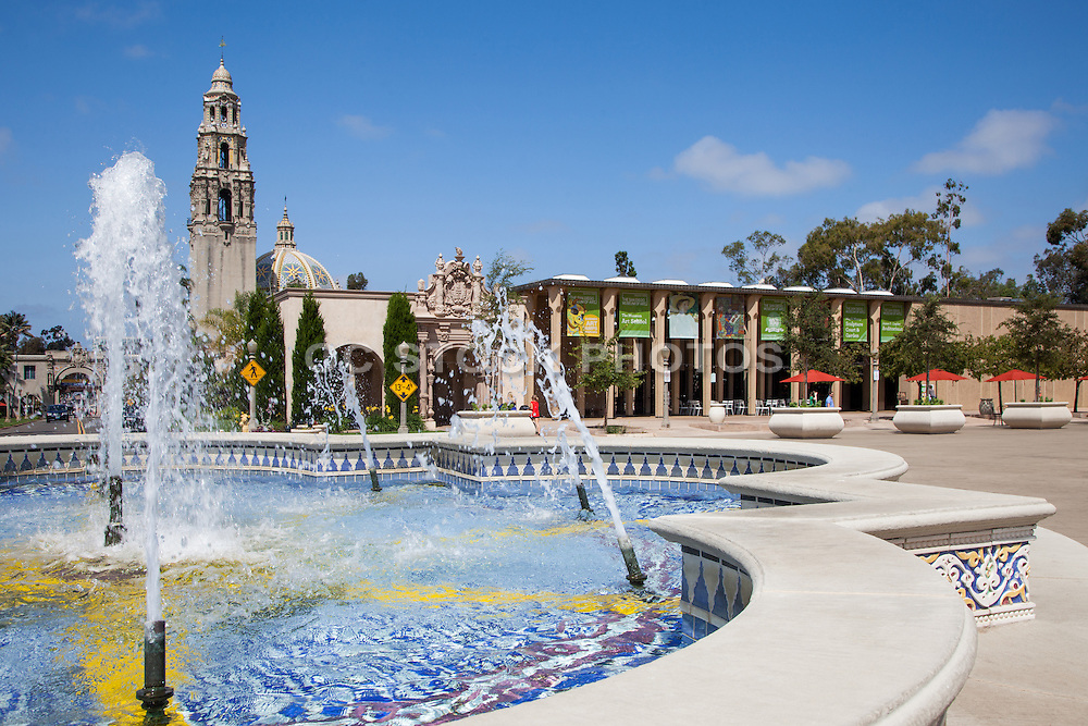 The Plaza de Panama Fountain at Balboa Park San Diego