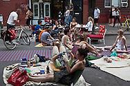 New York. Brooklyn.Williamsburg. people walking in Bedford street in, greenpoint , Brooklyn,  United states / pietons dans bedford street a Williamsburg,  Brooklyn , New York - Etats unis