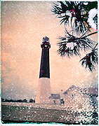 The restored Revolutionary War lighthouse on Tybee Island, near Savannah, Georgia.