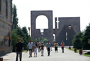 Armenia, Vagharshapat (AKA Echmiadzin) the spiritual centre of the Armenians, as it is the seat of the Catholicos of All Armenians, the head of the Holy Armenian Apostolic Church. Monumental archway at the St Echmiadzin Cathedral