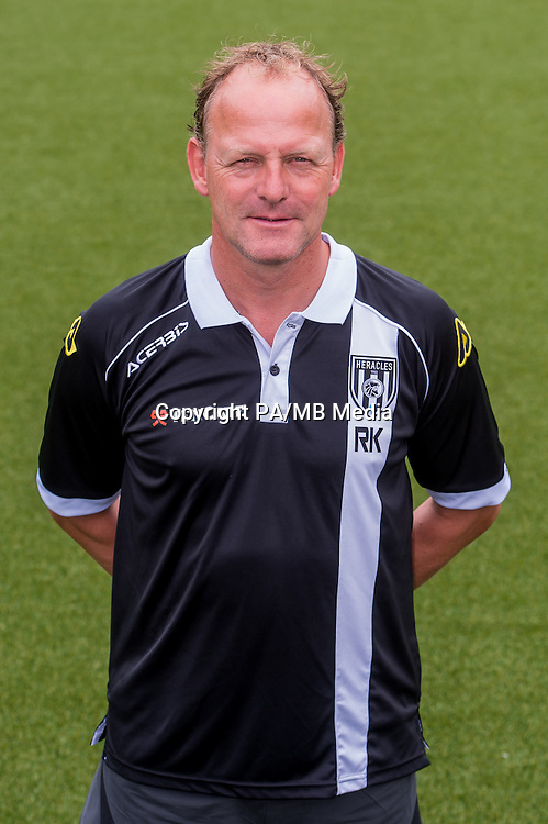 Assistent Trainer Rene Kolmschot of Heracles Almelo during the team photocall of Heracles on July 20, 2015 at the Polman stadium in Almelo, The Netherlands.
