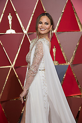 Feb 26, 2017 - Hollywood, California, U.S - CHRISSY TEIGEN arrives on the red carpet of The 89th Oscars at the Dolby Theatre in Hollywood, CA on Sunday, February 26, 2017. (Credit Image: © AMPAS/ZUMAPRESS.com)