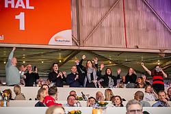 Poel-Gerrits eigenaar en fokker van 317, Le Formidable<br /> KWPN Hengstenkeuring - 's Hertogenbosch 2019<br /> © Hippo Foto - Dirk Caremans<br /> 02/02/2019