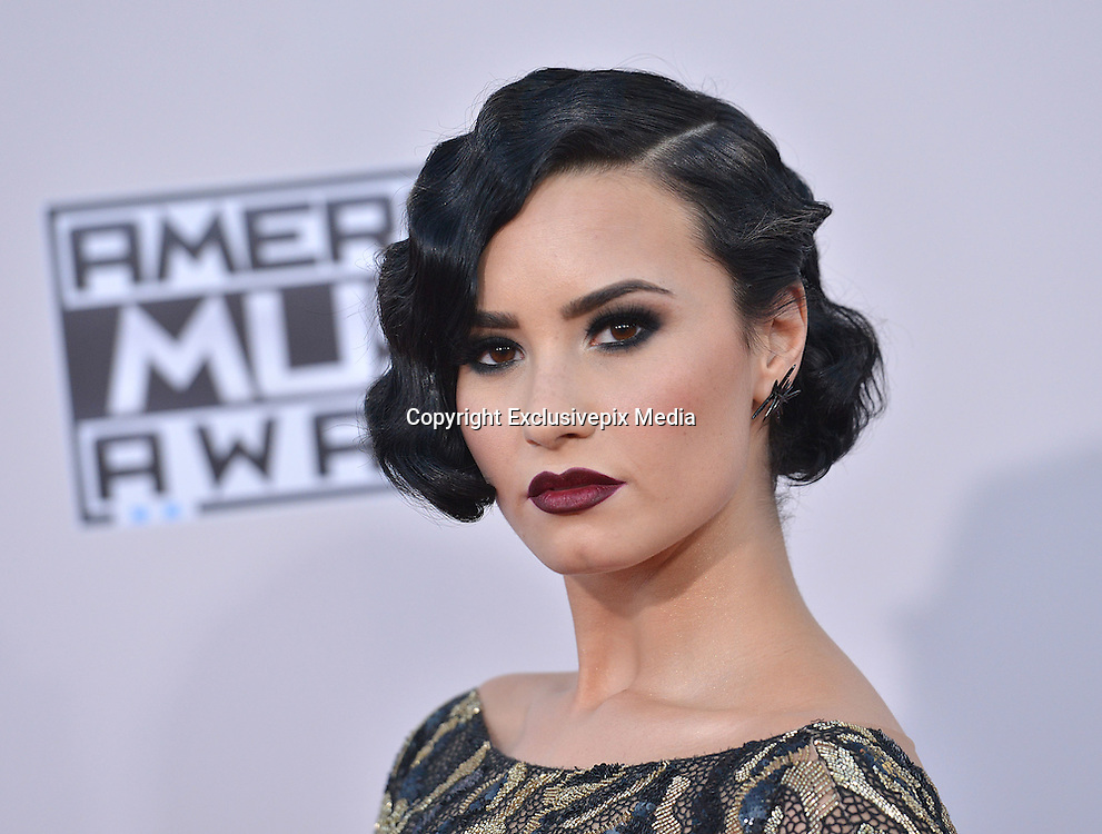 DEMI LOVATO @ the 2015 American Music Awards held @ the Micorsoft theatre.<br /> &copy;Exclusivepix Media