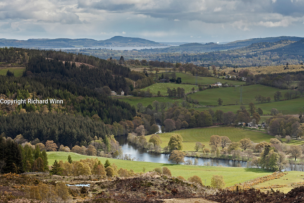 Looking along Strathglass, following the River Glass to Beauly Firth on the east coast.
