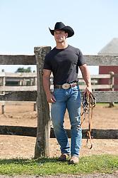 All American Cowboy on a ranch