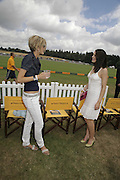 Lisa Butcher and Susie Amy, Veuve Clicquot Gold Cup 2006. Final day. 23 July 2006. ONE TIME USE ONLY - DO NOT ARCHIVE  © Copyright Photograph by Dafydd Jones 66 Stockwell Park Rd. London SW9 0DA Tel 020 7733 0108 www.dafjones.com