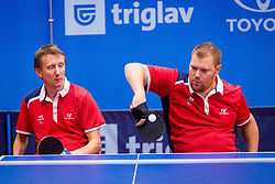 FRANCE (LAMIRAULT Fabien, MOLLIENS Stephane and BOURY Vincent) during day 4 of 15th EPINT tournament - European Table Tennis Championships for the Disabled 2017, at Arena Tri Lilije, Lasko, Slovenia, on October 1, 2017. Photo by Ziga Zupan / Sportida