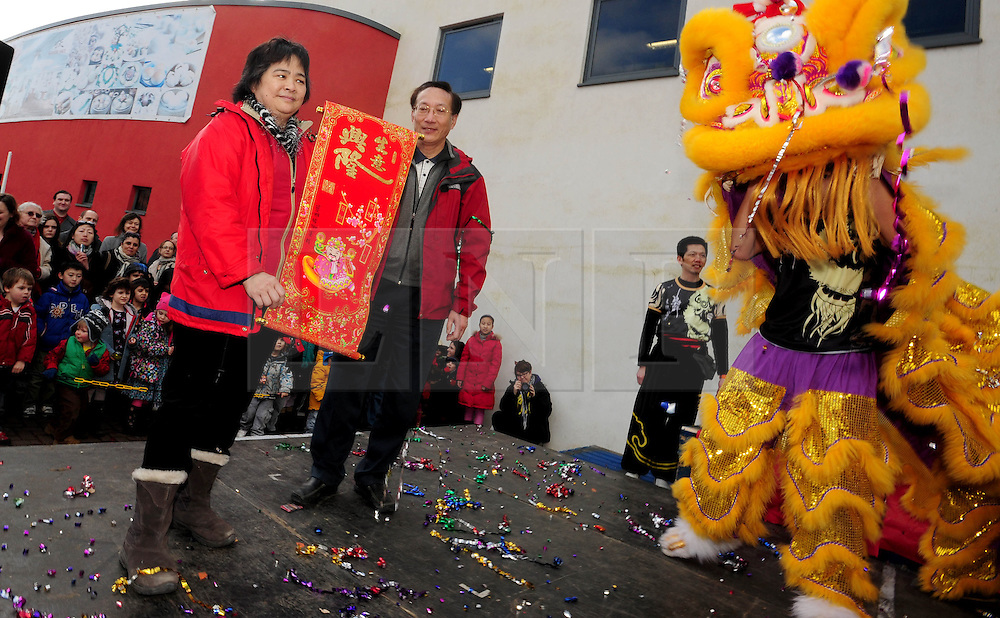 © Licensed to London News Pictures. 17/02/2013.Bristol, City of Bristol. Chinese New year celebrations at the wai yee hong in Eastgate.  celebrations to see in the  year of the Snake. Photo credit : Jon Kent/LNP