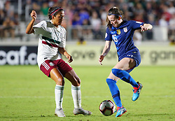 October 4, 2018 - Cary, NC, United States - Cary, NC - October 4, 2018:  The USWNT defeated Mexico 6-0 during the group stage of the 2018 CONCACAF Women's Championship at WakeMed Soccer Park. (Credit Image: © Tony Quinn/ISIPhotos via ZUMA Wire)