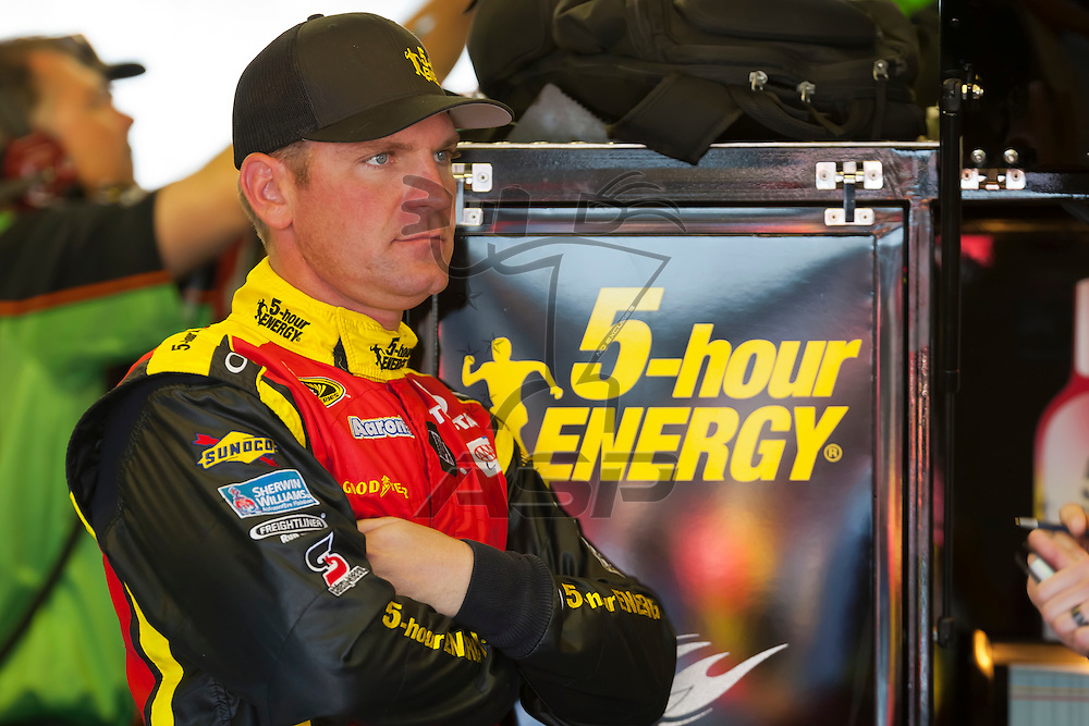 DARLINGTON, SC - MAY 11, 2012:  Clint Bowyer (15) waits for a practice session for the Bojangles Southern 500 at the Darlington Raceway in Darlington, SC.