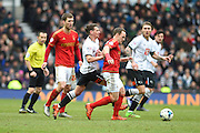 Nottingham Forest midfielder David Vaughan during the Sky Bet Championship match between Derby County and Nottingham Forest at the iPro Stadium, Derby, England on 19 March 2016. Photo by Jon Hobley.