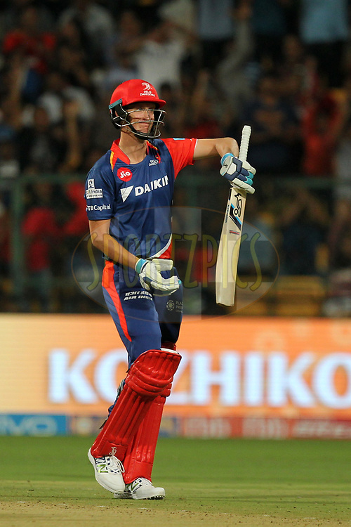 Chris Morris of Delhi Daredevils departs during match 5 of the Vivo 2017 Indian Premier League between the Royal Challengers Bangalore and the Delhi Daredevils held at the M.Chinnaswamy Stadium in Bangalore, India on the 8th April 2017Photo by Prashant Bhoot - IPL - Sportzpics