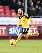 John Brayford on the ball during the Sky Bet League 1 match between Crawley Town and Sheffield Utd at Broadfield Stadium, Crawley, England on 28 February 2015. Photo by David Charbit.