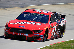 March 23, 2019 - Martinsville, VA, U.S. - MARTINSVILLE, VA - MARCH 23: #41: Daniel Suarez, Stewart-Haas Racing, Ford Mustang Haas Automation  during final practice for the STP 500 Monster Energy NASCAR Cup Series race on March 23, 2019 at the Martinsville Speedway in Martinsville, VA.  (Photo by David J. Griffin/Icon Sportswire) (Credit Image: © David J. Griffin/Icon SMI via ZUMA Press)