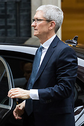 Downing Street, London, February 9th 2017. Apple CEO Tim Cook arrives at 10 Downing Street, official residence of British Prime Minister Theresa May.
