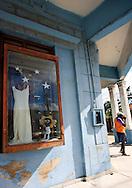 Dress shop in Santa Cruz del Norte, Mayabeque, Cuba.