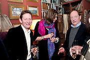 rory knight-bruce; anya campbell; andrew edmunds, Party to celebrate the publication of Animal Magic by Andrew Barrow. Tite St. London. 28 February 2011.  -DO NOT ARCHIVE-© Copyright Photograph by Dafydd Jones. 248 Clapham Rd. London SW9 0PZ. Tel 0207 820 0771. www.dafjones.com.
