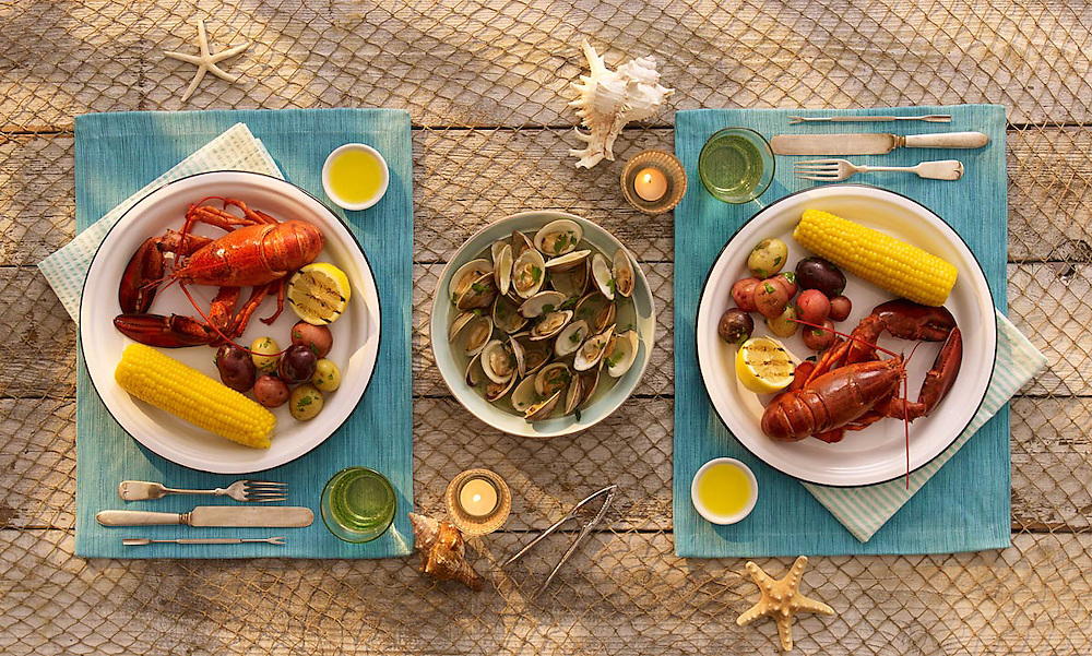 Lobster bake with clams