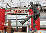 *** during the Sky Bet Championship match between Middlesbrough and Milton Keynes Dons at the Riverside Stadium, Middlesbrough, England on 12 September 2015. Photo by George Ledger.