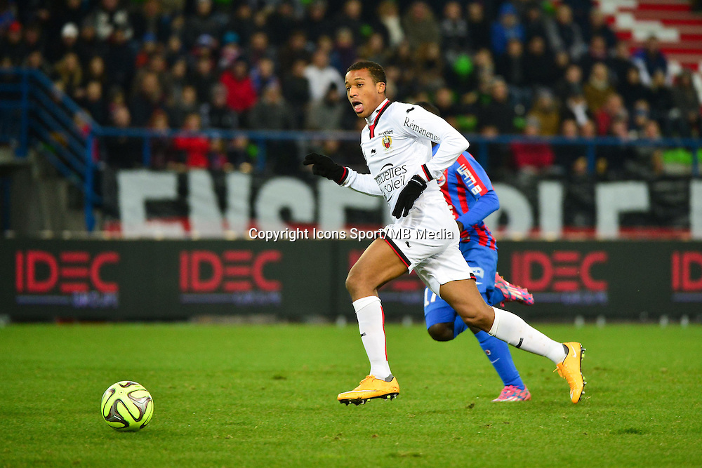 Alassane PLEA - 06.12.2014 - Caen / Nice - 17eme journee de Ligue 1 -<br />Photo : Dave Winter / Icon Sport
