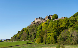 View of Stirling Castle on a blue sky sunny day , Scotland, UK
