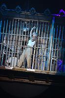 Karlsruhe. 04.09.15 Circus Flic Flac. 25 Jahre Programm &quot;H&ouml;chststrafe&quot;.<br /> Am 4. November 2015 kommt Flic Flac nach Mannheim. Preview zum aktuellen Programm.<br /> - Alter-Crass-Band (Caro Kunde)<br /> Bild: Markus Pro&szlig;witz 04SEP15 / masterpress (Bild ist honorarpflichtig)