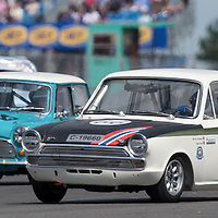 #66, Ford Lotus Cortina Mk1 (1966), Viggo Lund (NOR) and Martin Strommen (NOR), Silverstone Classic 2015, Warwick Banks Trophy for Under 2 Litre Touring Cars (U2TC). 25.07.2015. Silverstone, England, U.K.  Silverstone Classic 2015.