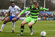 Forest Green Rovers Dayle Grubb(8) on the ball during the EFL Sky Bet League 2 match between Forest Green Rovers and Mansfield Town at the New Lawn, Forest Green, United Kingdom on 24 March 2018. Picture by Shane Healey.